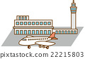 Airport and airplane image illustration 22215803