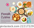 finnish, cuisine, vector 22217229