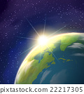 Sunrise Earth Space View Realistic Poster  22217305
