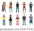 set, icons, people 22217341