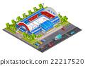 Sport Complex Stadium Isometric Banner     22217520