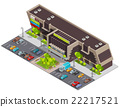 Shopping Center Mall Complex Isometric Composition 22217521