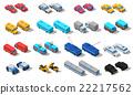 City Transport Isometric Icons Set  22217562