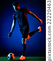 Soccer player Man isolated 22220463