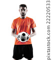 Soccer player Man Isolated silhouette 22220533