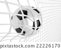 Soccer ball in net 22226170