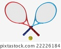 red and blue tennis rackets 22226184