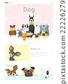 Animal website template and infographic with Dog 22226279
