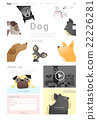 Animal website template and infographic with Dog 22226281