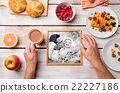 Fathers day composition. Black-and-white photo and 22227186