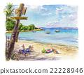 海灘 地中海 觀光 22228946