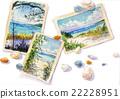 海灘 .明信片 明信片 22228951