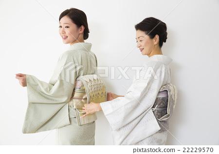 A woman in kimono shape 22229570