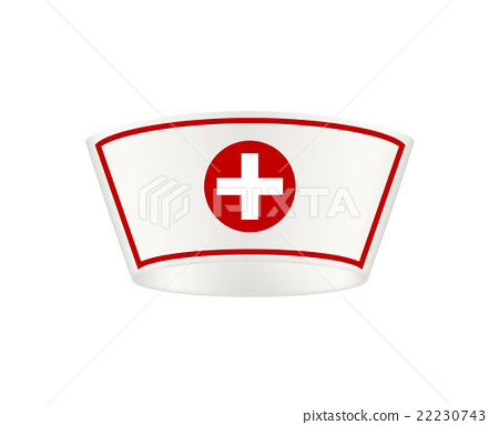 Nurse cap with cross on white background 22230743