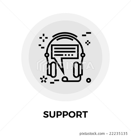 Support Line Icon 22235135