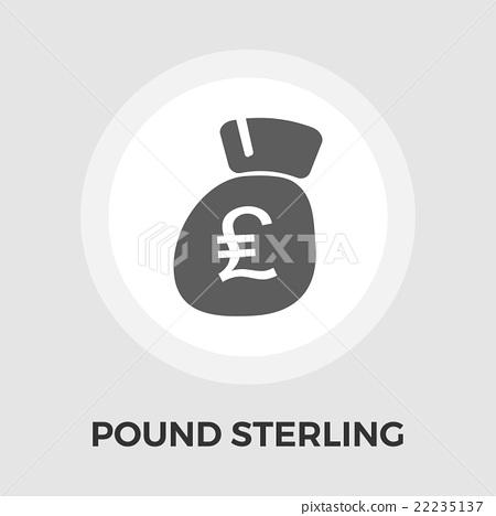 Pound sterling icon flat 22235137
