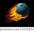 Flaming Bowling Ball 22235832