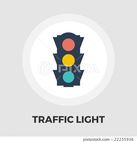 Traffic light icon flat 22235936
