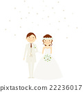 bridal couple, bride and groom, wedding dress 22236017