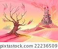Fantasy landscape with castle 22236509