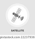 Satellite flat icon 22237936