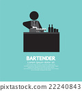 Black Symbol Bartender Vector Illustration. 22240843