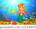 sea, mermaid, coral 22240859