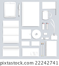 White blank set of vector corporate identity 22242741