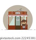 barber, shop, salon 22245381