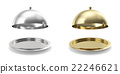 Set opened cloche on white background. 3d 22246621