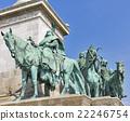 Millennium Memorial in Budapest, Hungary. 22246754