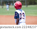 Young african american baseball boy on first base 22248237