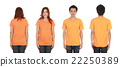 man and woman with blank t-shirt 22250389