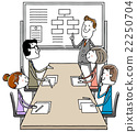 Illustration material: Business meeting meeting meeting 22250704