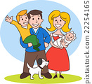 Cute Cartoon Family 22254165