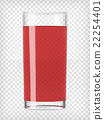 Red Fruit Juice in a Glass 22254401