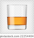 Glass of scotch whiskey. 22254404