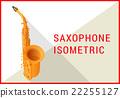 saxophone isometric flat 3d vector  22255127