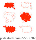 Hand drawn comic speech and thought bubbles set.  22257702