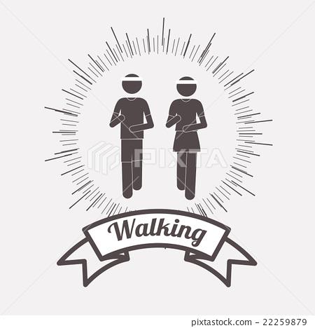 people walking design  22259879