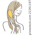 女性刷牙 22261197