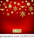 Christmas knitted red background. EPS 10 22263124