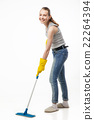 Smiling woman with swab isolated 22264394