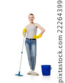 Smiling woman with swab isolated 22264399