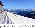 Snow walking path with snow mountains 22272930