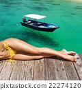 Woman at beach 22274120