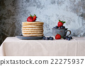 Pancakes with fresh berries 22275937