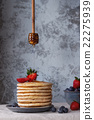 Pancakes with fresh berries 22275939