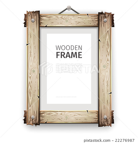 Old Wooden Frame with White Paint - Stock Illustration [22276987 ...