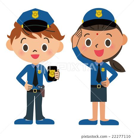 Child, policeman 22277110